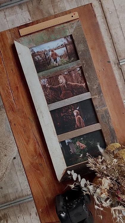 Fotolijst 4 vaks (landelijke stijl)