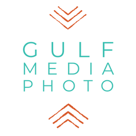 Logo for Gulf Media Collectives page for Photography. Wedding Portrait Landscape Family Photos