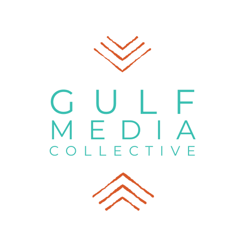 Logo for Gulf Media Collective. Recording Studio. Professional Photography and Videography