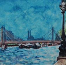 Oil Sketch, 'Embankment I