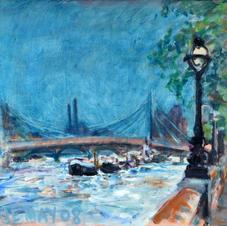 Oil sketch, 'Embankment II'
