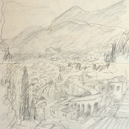 skb4. Menton, view from Grave yard, William Ellis is Buried, 18/3/12