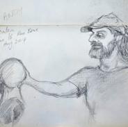 skb1. Andy working in studio(studio 16), Aug 2014