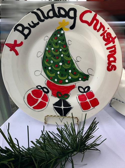 Georgia Bulldogs Christmas Tree plate