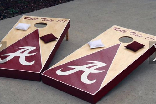 ALABAMA CORN HOLE set wooden with bags