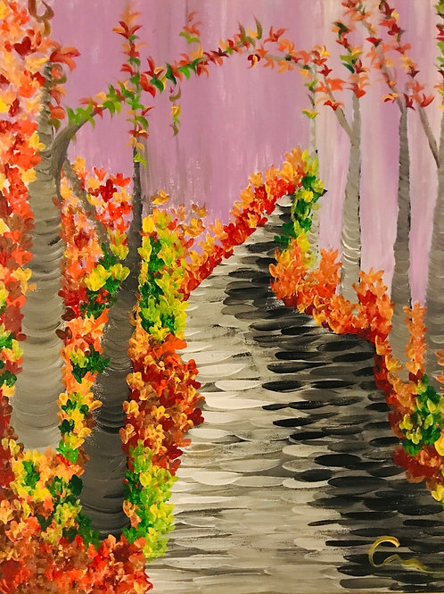 Autumn Forest  original canvas painting 16x20