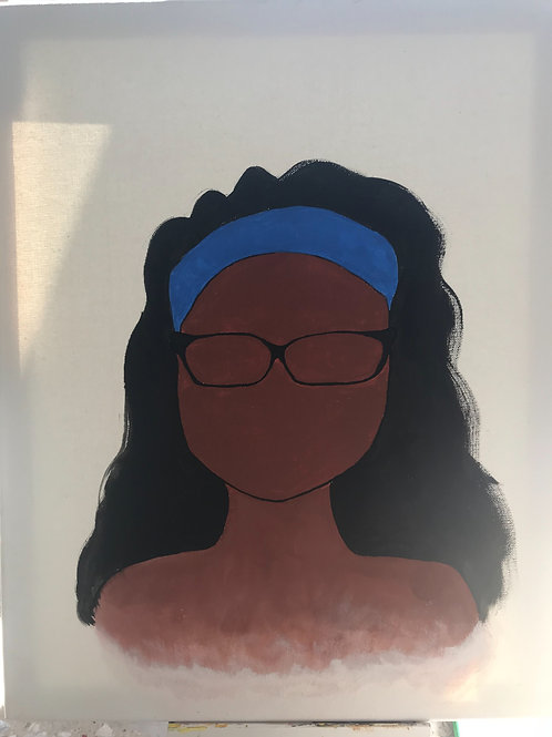 Silhouette personalized canvas 16 x20