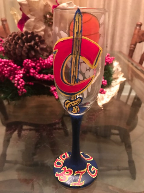 Cleaveland Cavaliers champagne flute