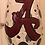 Thumbnail: ALABAMA UNIVERSITY  wine glass