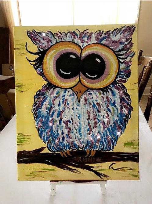 Owl canvas 8x10