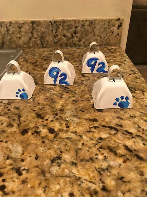 Team personalized cow bell