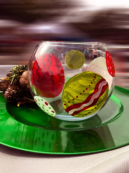 CHRISTMAS ORNAMENTS vase round