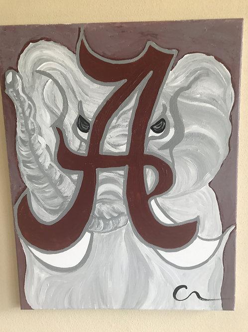 University of Alabama acrylic 8x10