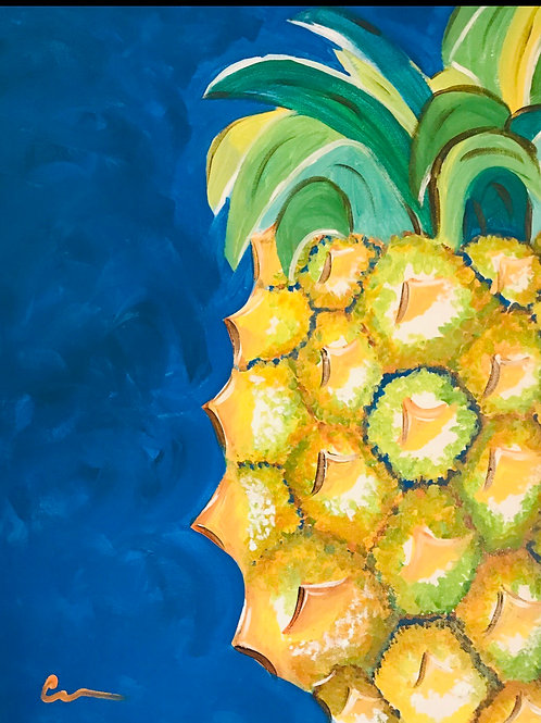 Pineapple canvas painting 16x20