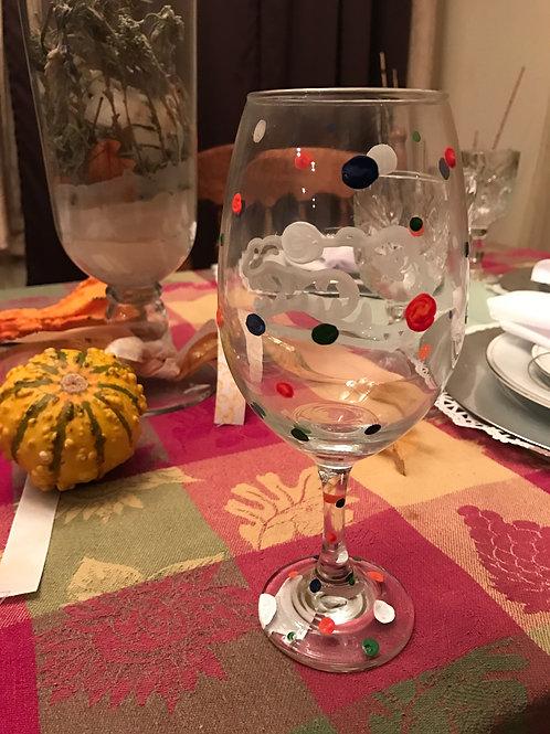 FLORIDA GATORS wine glass