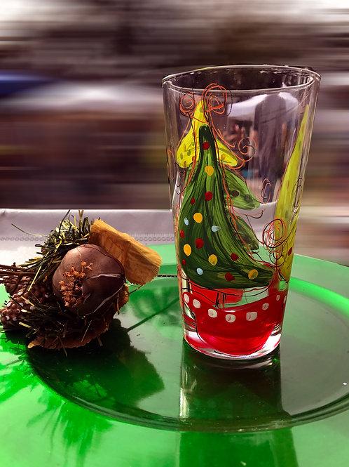 Whimsical Christmas Tree glass