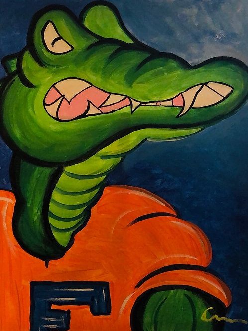UF University of Florida Gators 16x20  canvas orginal art