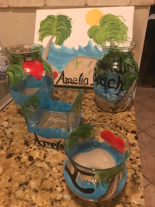 I LOVE Amelia Island vase