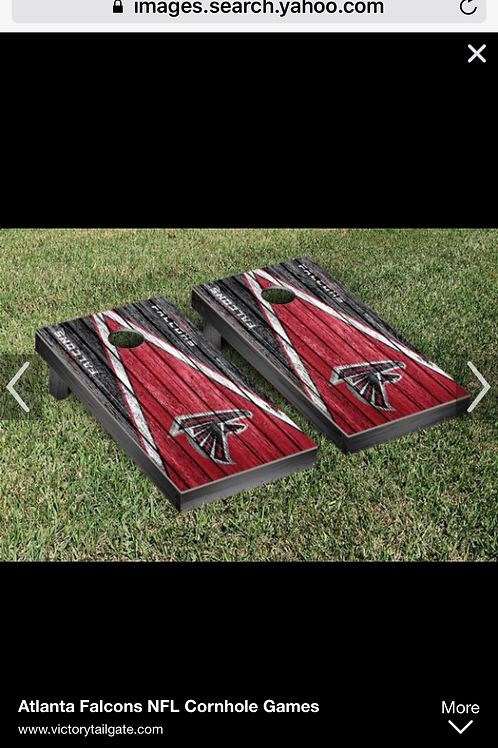 NFL CORN HOLE set wooden with bags