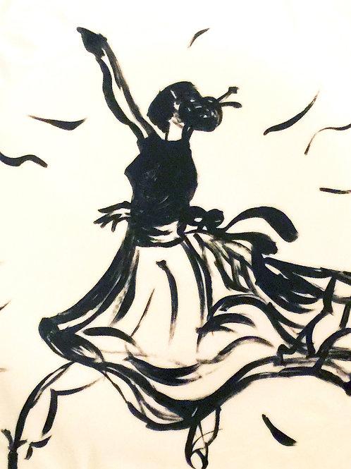 BALLERINA IN BLACK on canvas 8X10