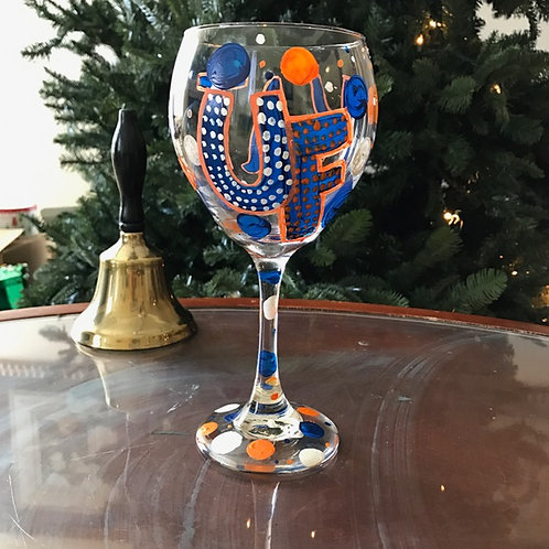 UNIVERSITY OF FLORIDA wine glass