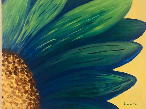 The Sunflower  acrylic canvas painting 16x20 in size