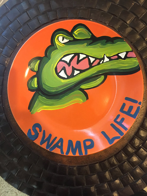 FLORIDA GATORS THEMED PLATE