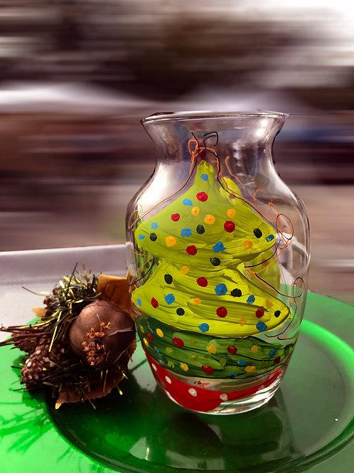 Whimsical Christmas Tree vase