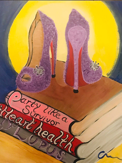 Heels of empowerment personalized on canvas 16x20 in size