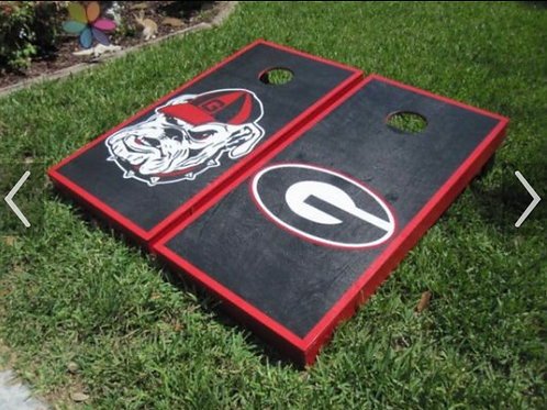 UGA CORN HOLE set wooden with bags