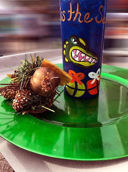 Florida Gators Christmas Tree Glass/Vase