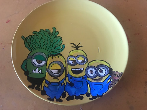 MINIONS personalized plate