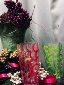 Abstract Glasses set of 2