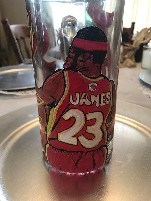 Lebron James glass mug