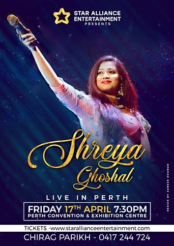 SHREYA GHOSHAL PERTH