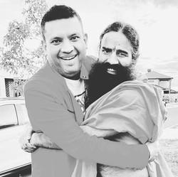 swamiji and me