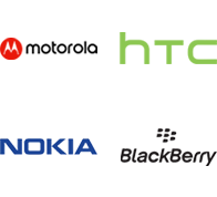 Motorola, HTC, Nokia, Blackberry