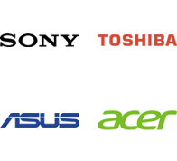Sony, Toshiba, Asus, Acer