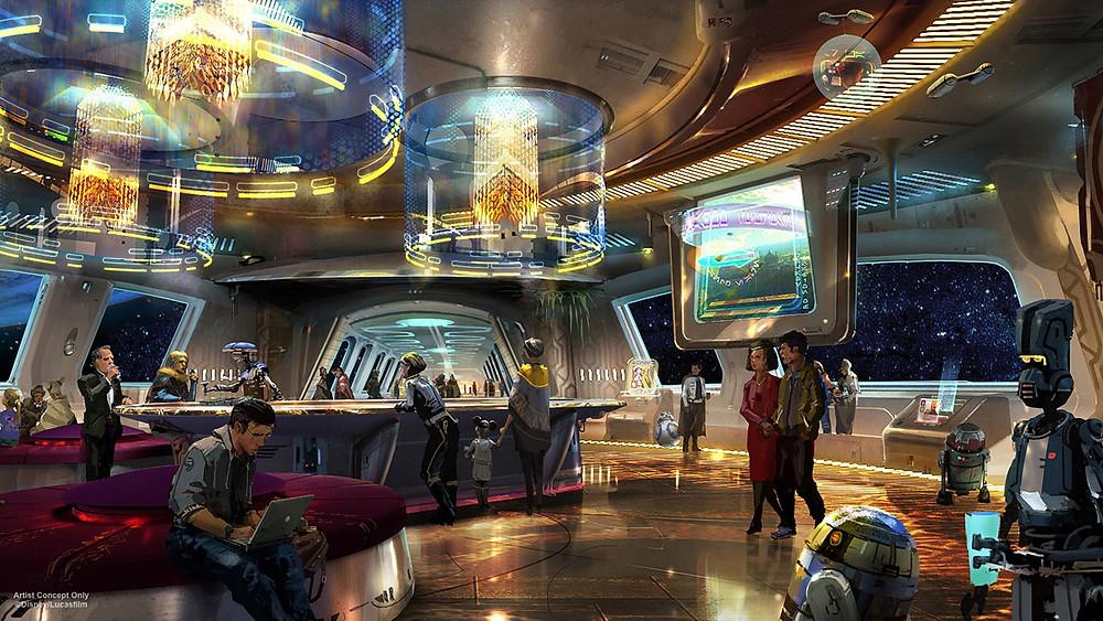 Star Wars Hotel Lobby - Disney/Lucas Films