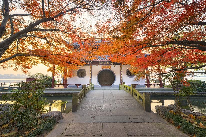 Pagoda Hangzhou Autumn