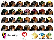 Flavour card of chocolates