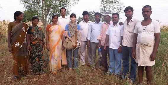スパイス商人 インド視察 農家