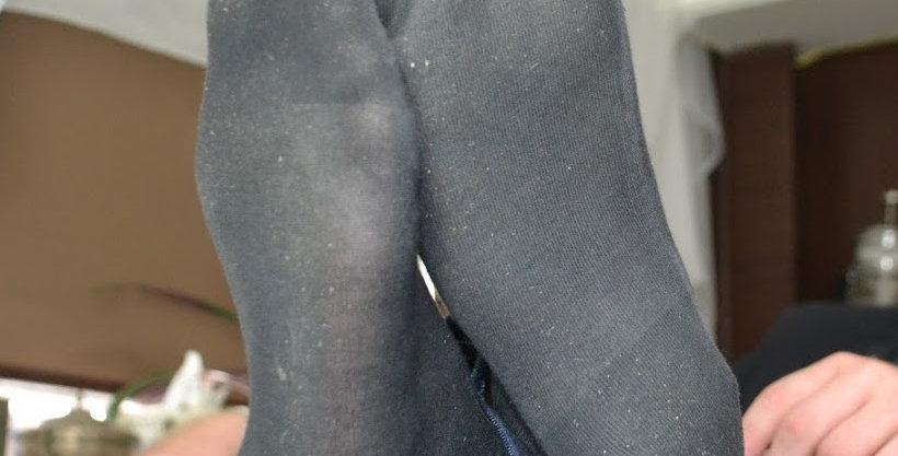 Black dress sweaty socks