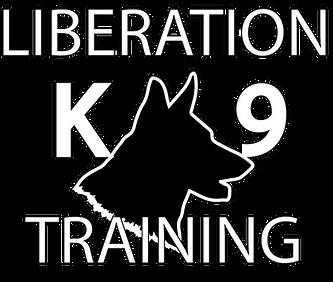 Liberation K9 Training Logo White Writin