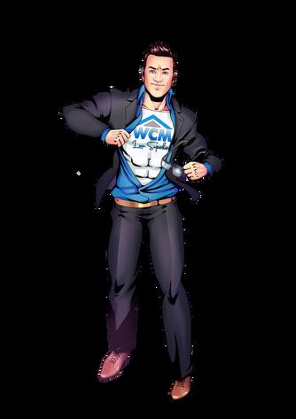 Custom LOGO Superhero caricature Portrait