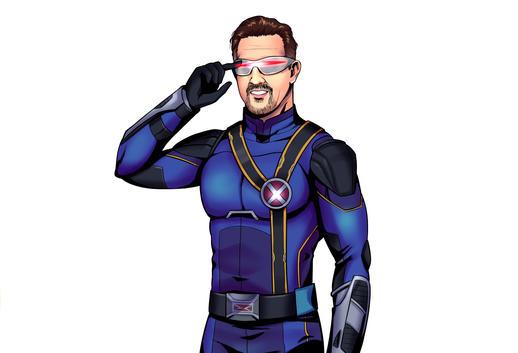 Custom Superhero caricature Portrait