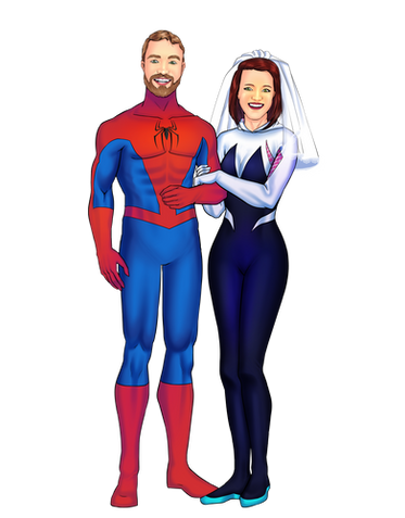 Custom Personalized Couple Portrait