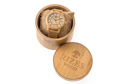 Ξύλινο ρολόι χειρός μπαμπού