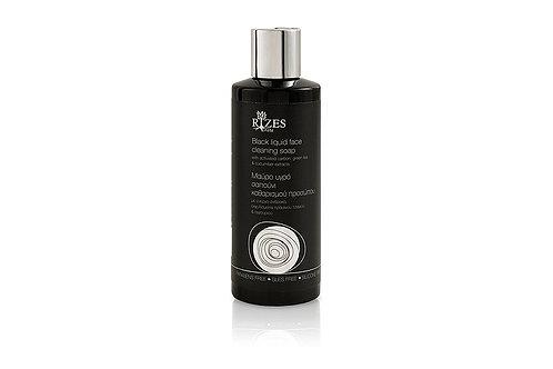 Black liquid face cleaning soap / 200 ml