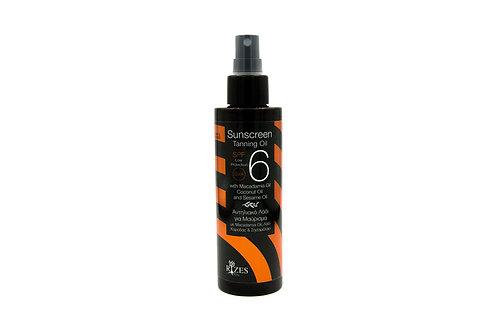 Sunscreen tanning oil SPF 6